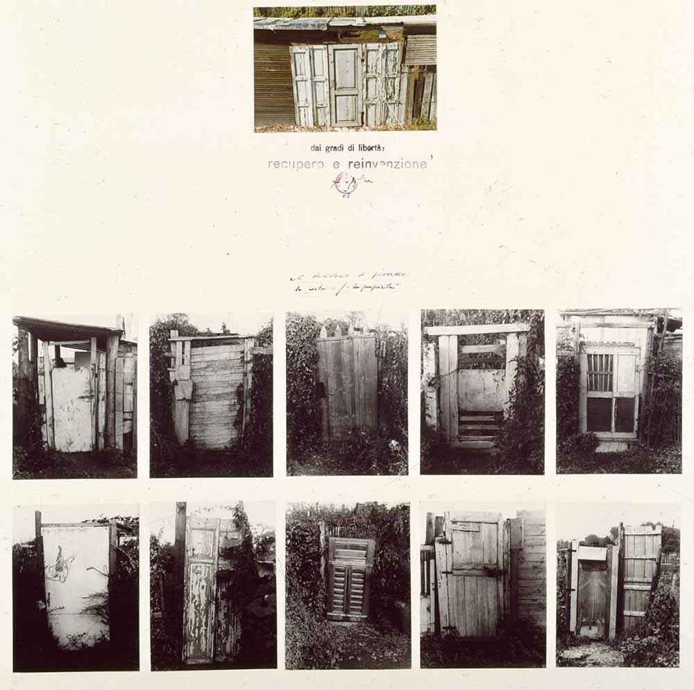 Immagine dell'opera di Ugo La Pietra, collage