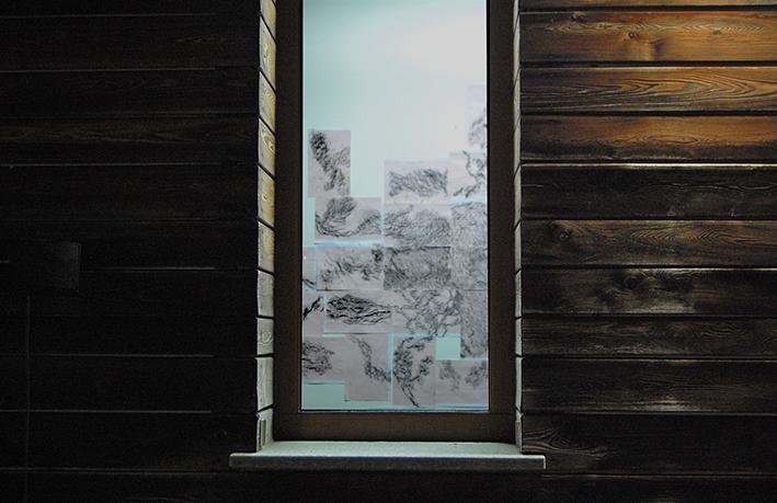 vista dalla finestra dell'installazione Inframondo