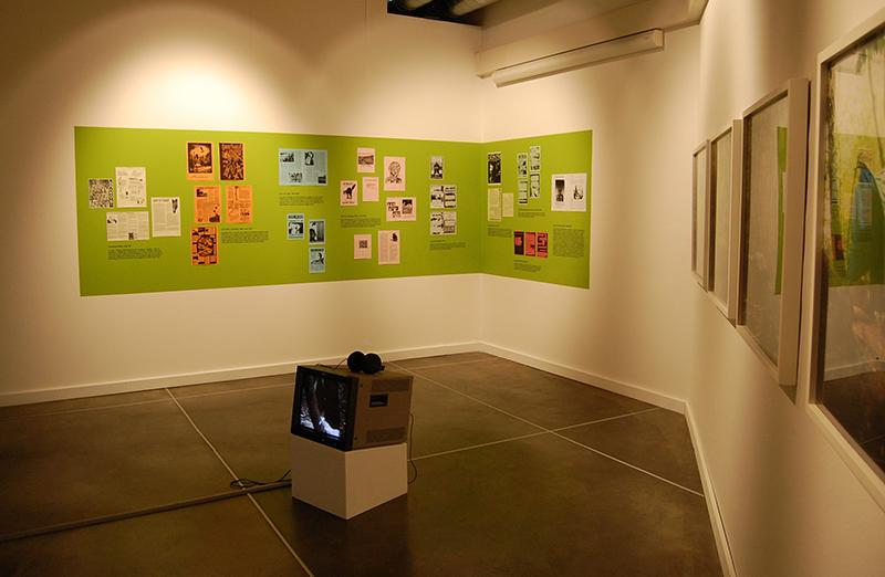Veduta della project room con i lavori di Adelita Husni-Bey