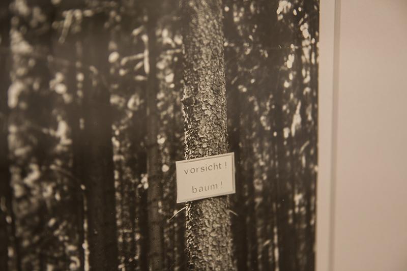 fotografia di un cartello su un albero, Jiří Valoch, Cautela! Albero!