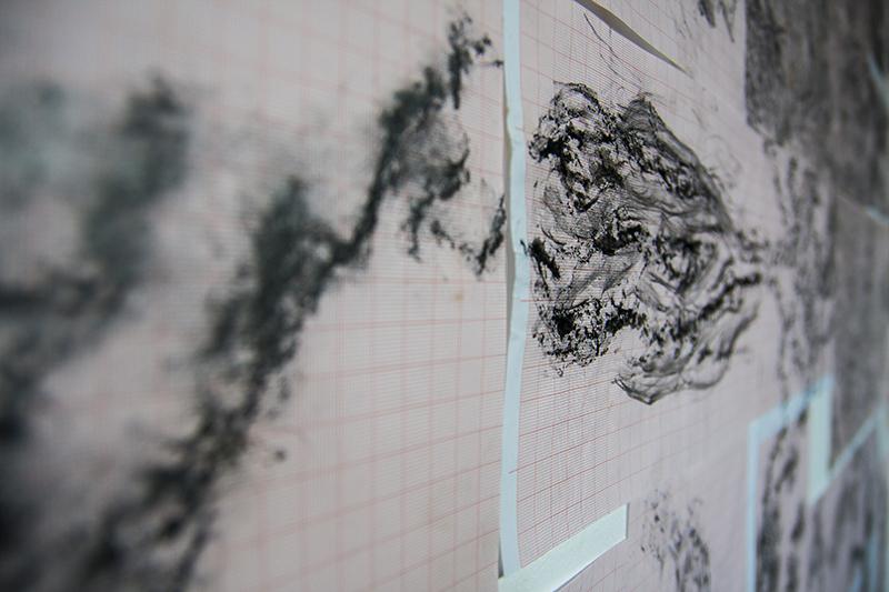 dettaglio di carta millimetrata disegnata