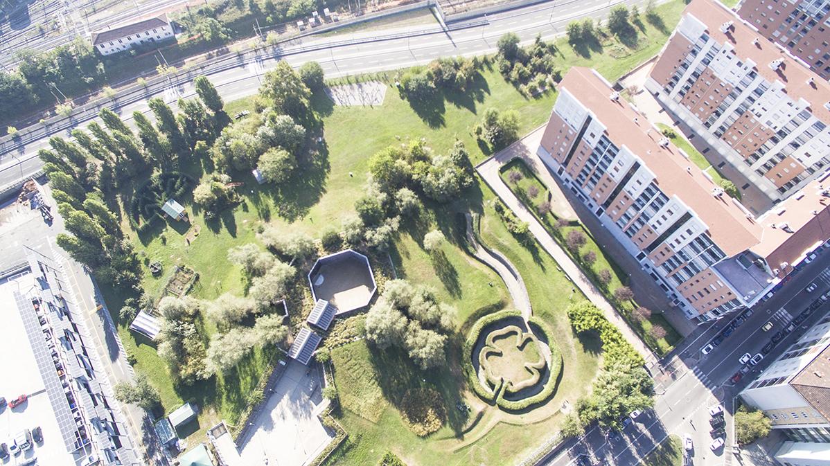 Foto panoramica del PAV da drone, 2018