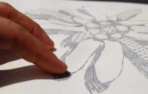 Disegni tattili dell'opera Mixture of plants di Gabriella Ciancimino, 2012, dettaglio