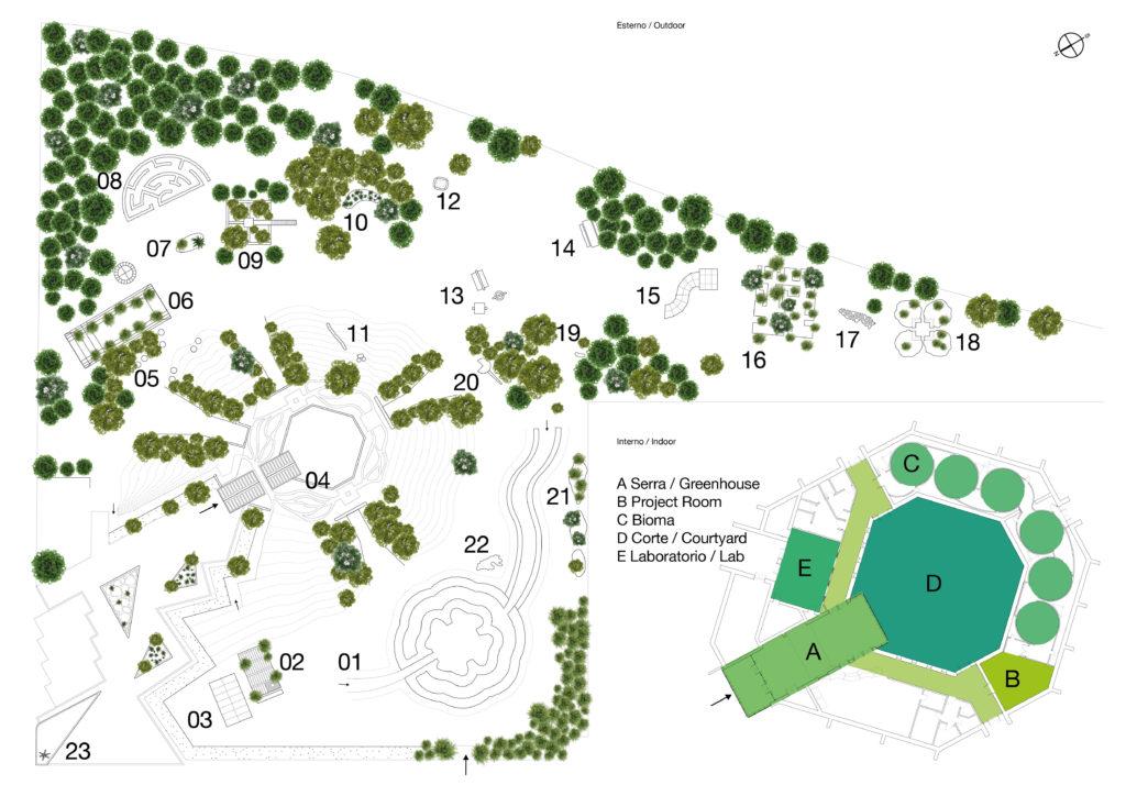 PAV, mappa delle opere del parco